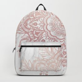 Queen Starring of Mandala-White Marble Backpack
