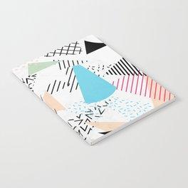 Pizza Retro Geometric 80's Notebook