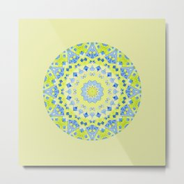 Tilted Order Circle Bright Metal Print
