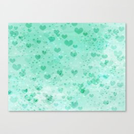 A Sea Of Floating Hearts Canvas Print