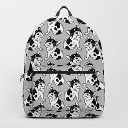 Brindle Pied Frenchie Puppy Backpack