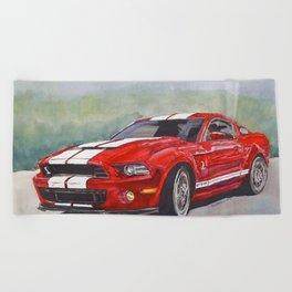 Red Cobra Beach Towel