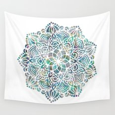 Mandala Mermaid Sea Wall Tapestry