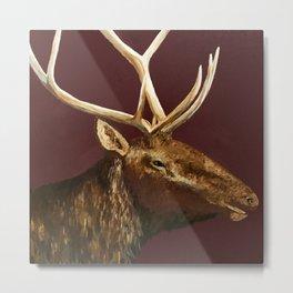 Big Bull Elk Profile Metal Print