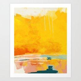 sunny landscape Art Print