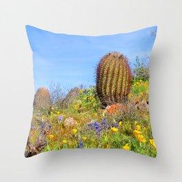 Desert Wildflower Hike 4 Throw Pillow
