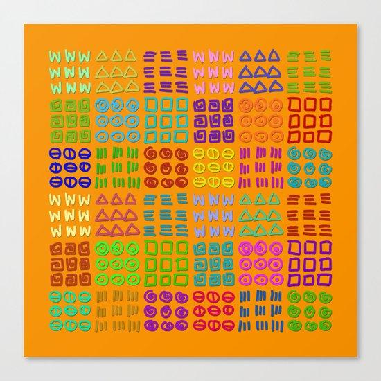 Aztec Wannabe (Orange) Canvas Print