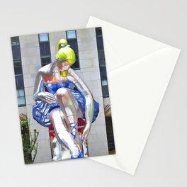 Seated Ballerina at Rockefeller Center 2 Stationery Cards