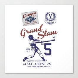 Baseball Grand Slam Vintage Design. Canvas Print