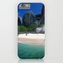 Seychelles Islands' Beach and Emerald Green Indian Ocean iPhone Case