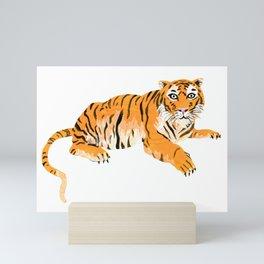 Painted Tiger Mini Art Print