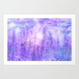 Spring Violet Flowers Art Print