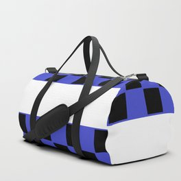Black and blue chess board Duffle Bag