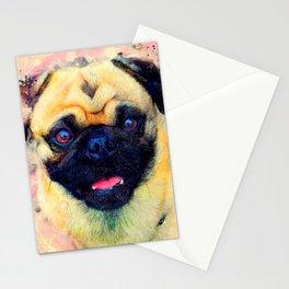 dog mops #dog #mops #animals Stationery Cards