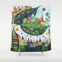 snail Shower Curtains featuring Snail by Annabies