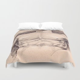 Seated Hercules (detail) Duvet Cover