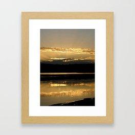 Sunsetting on a golden Pond Framed Art Print
