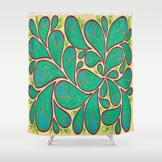Gold Petals 2 Shower Curtain