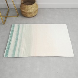 Washed Out Ocean Waves // California Beach Surf Horizon Summer Sunrise Abstract Photograph Vibes Rug