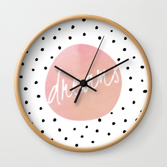 Dreams - Polkadots and Typography on pink background by betterhome