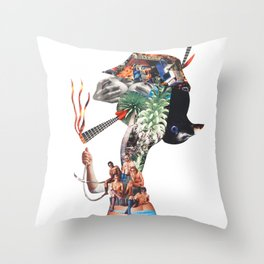 Joint lady Throw Pillow