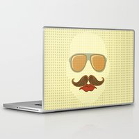 gangster Laptop & iPad Skins featuring Gangster face by olillia