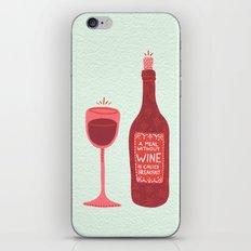 Wine iPhone & iPod Skin