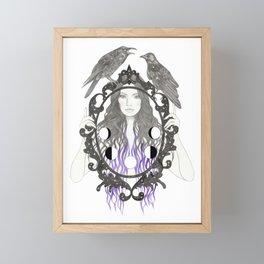 Crow Moon Framed Mini Art Print