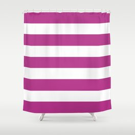 Fandango -  solid color - white stripes pattern Shower Curtain