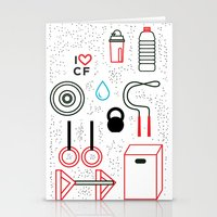 crossfit Stationery Cards featuring CrossFit Love by Golden Heart