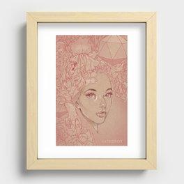 Honey Lamb Recessed Framed Print