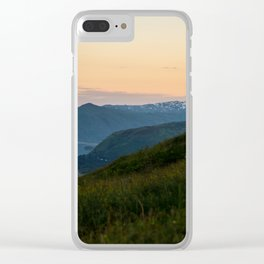 Island Mountaintop Zoomed Clear iPhone Case