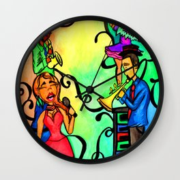 Rainbow African American band Wall Clock