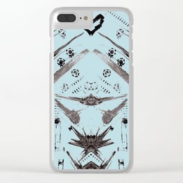 Hand Made Print 1 Clear iPhone Case