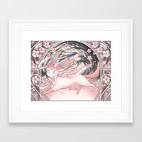 sylveon Framed Art Prints featuring Sylv by Weissidian