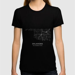 Oklahoma State Road Map T-shirt