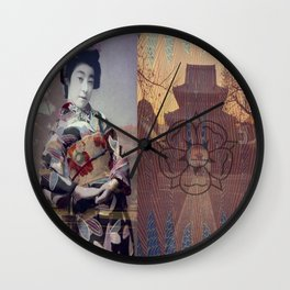 Once Upon A Time in Tokyo XV Wall Clock