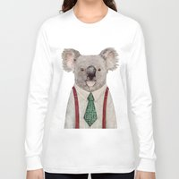 koala Long Sleeve T-shirts featuring Koala by Animal Crew