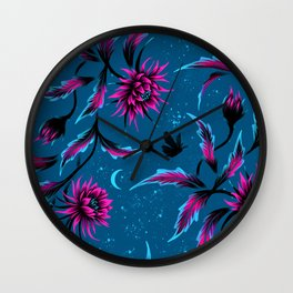 Queen of the Night - Teal / Purple Wall Clock