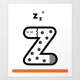 ABC: Z Art Print