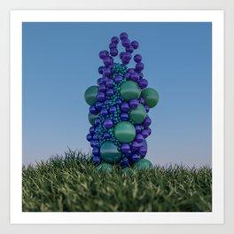 Bubbleflower Art Print