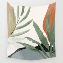 Abstract Art Tropical Leaves 10 Wall Tapestry