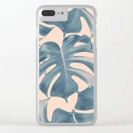 Tropical Monstera Leaves Dream #5 #tropical #decor #art #society6 Clear iPhone Case