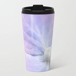 Blue and Purple Hydrangea Blossom Travel Mug
