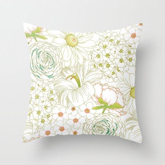 Big Blooms Throw Pillow
