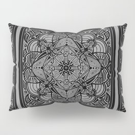 Triple Doodles & Bits Grey Pillow Sham