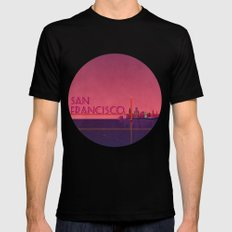 San Francisco Black Mens Fitted Tee MEDIUM
