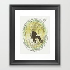I'm only king in my own fuckin' mind Framed Art Print