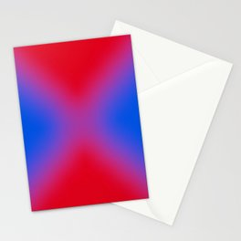 blue and red make purple Stationery Cards