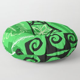 Hawaiian Pattern #1 - green! Floor Pillow